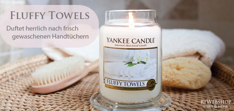 Yankee Candle Fluffy Towels - duftet herrlich nach frischgewaschenen Handtüchern.