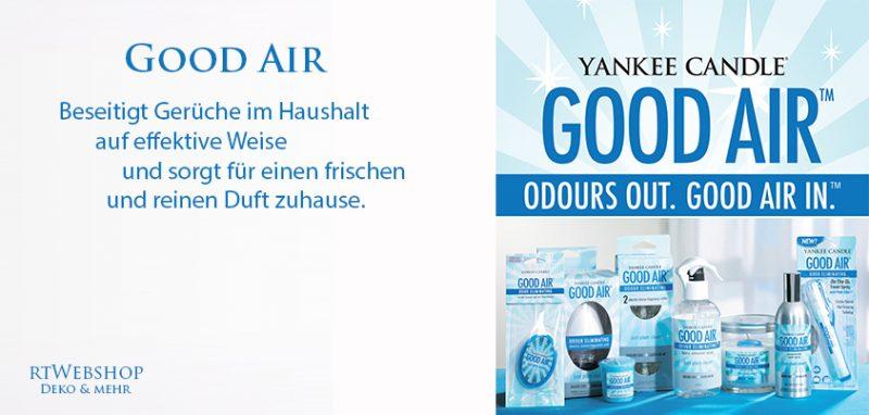 Yankee Candle Good Air - duftet nach frisch gewaschener Wäsche und Frühlingssonne.