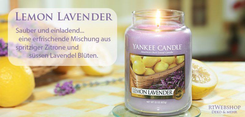 Yankee Candle Lemon Lavender - sauber und einladend... eine erfrischende Mischung aus spritziger Zitrone und süssen Lavendel Blüten.