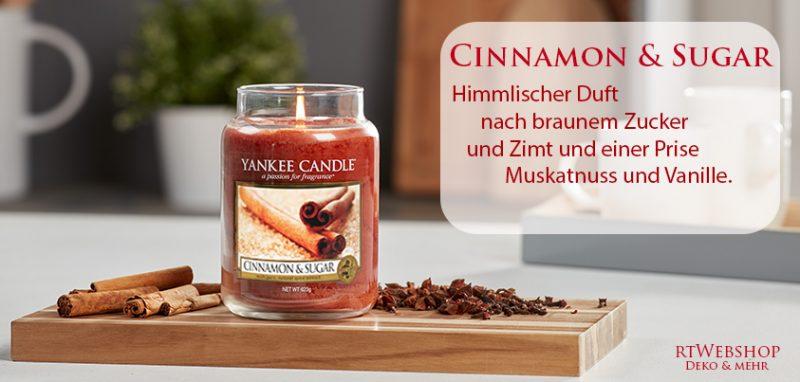 Himmlischer Duft nach braunem Zucker und Zimt und einer Prise Muskatnuss und Vanille.