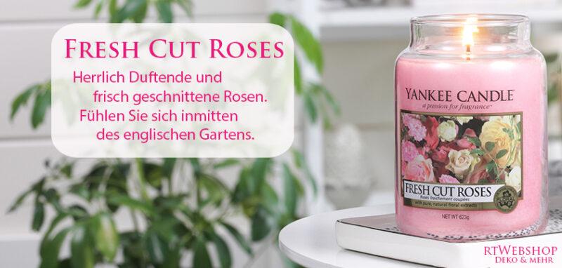 Herrlich Duftende und frisch geschnittene Rosen. Fühlen Sie sich inmitten des englischen Gartens - jetzt bei www.rtWebshop.ch