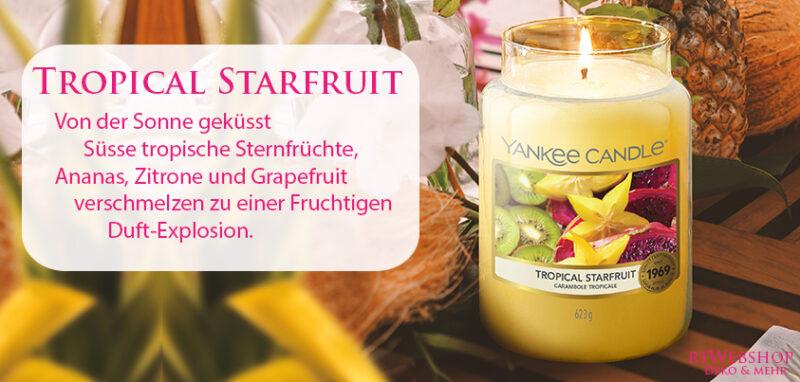 Von der Sonne geküsst: Süsse tropische Sternfrüchte, Ananas, Zitrone und Grapefruit verschmelzen zu einer Fruchtigen Duft-Explosion - jetzt bei www.rtWebshop.ch