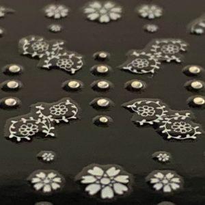 Profi NailArt Sticker - Gothic und Blumen Ornamente und Steinchen.