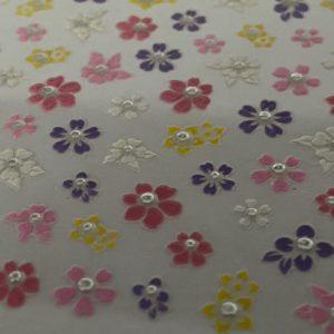 Nail Art Sticker mit Blumen und Steinchen