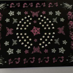 Profi NailArt Sticker - Gothic Ornamente mit Steinchen.