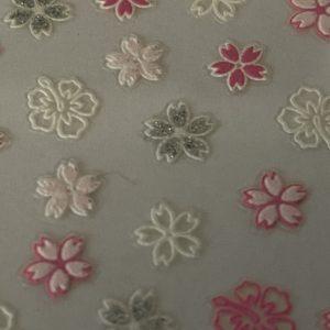 Profi NailArt Sticker - Rosa und Weisse Blumen mit leichtem Glitzereffekt.