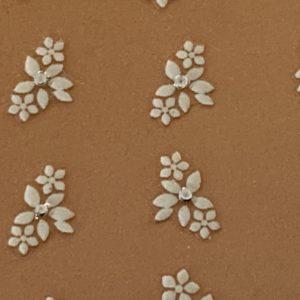Profi NailArt Sticker - Weisse Blumenornamente mit Glitzersteinchen.