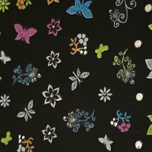Profi NailArt Sticker - Tolle Neon-Sticker mit bunten Schmetterlingen Blumen und Sternen.
